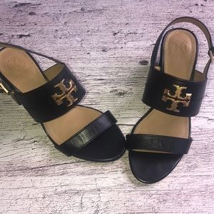 Tory Burch black slingback heel